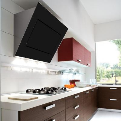 falmec quasar 120 wandhaube kopffrei glas schwarz design eek a online shop dunstabzug a. Black Bedroom Furniture Sets. Home Design Ideas