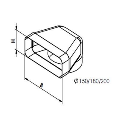 gutmann tz 8001 l ftungskanal kunststoff online shop dunstabzug zubeh r abluftkanal 150. Black Bedroom Furniture Sets. Home Design Ideas