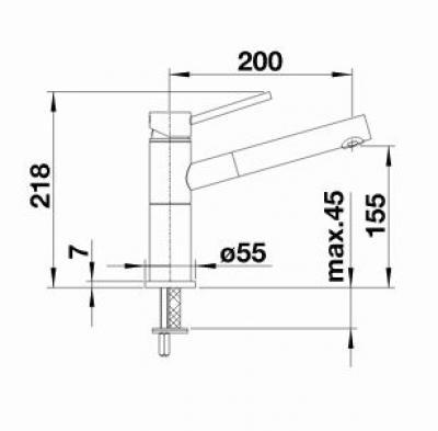 Blanco Alta S Compact Kuchenarmatur 515122 Chrom Hochdruck Online