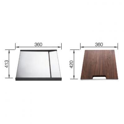 blanco set tropf und holzschneidbrett edelstahl 516185 online shop sp len zubeh r arbeitsbrett. Black Bedroom Furniture Sets. Home Design Ideas