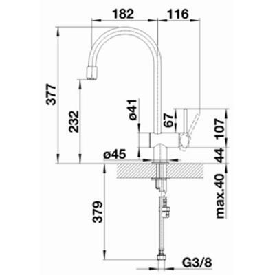 blanco filo s k chenarmatur 517180 edelstahl geb rstet. Black Bedroom Furniture Sets. Home Design Ideas