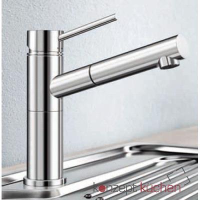 Blanco ALTA-S Compact Küchenarmatur 517182 Edelstahl gebürstet ...