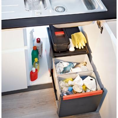 Abfalltrennung Küche   Franke Sorter Cube 41 Automatikauszug Abfalltrennung 3 Fach