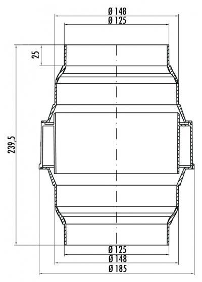 naber compair kda flow 125 150 kondenswasserabscheider 4043018 online shop dunstabzug zubeh r. Black Bedroom Furniture Sets. Home Design Ideas