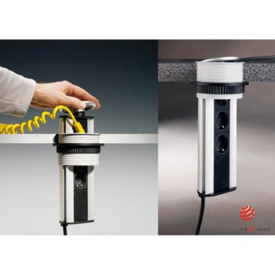 naber evoline port 1 silberfarbig energiebox mit belgischen steckdosen 8031140 online shop. Black Bedroom Furniture Sets. Home Design Ideas