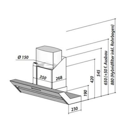 berbel bkh 90 fo kopffreihaube formline edelstahl eek a online shop dunstabzug a kopffrei hauben. Black Bedroom Furniture Sets. Home Design Ideas