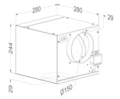 novy cubic w rfelmotor externer motor 340de online shop dunstabzug zubeh r externe motoren. Black Bedroom Furniture Sets. Home Design Ideas