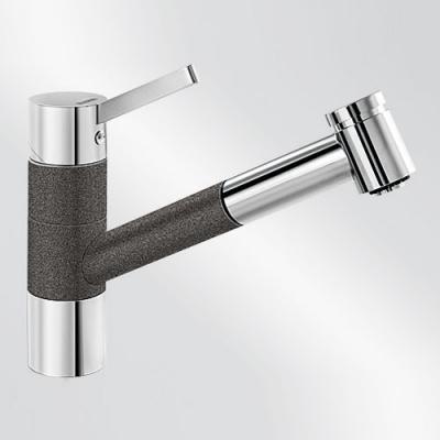Blanco TIVO-S Küchenarmatur SILGRANIT®-Look Chrom Niederdruck Online ...