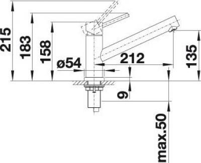 BLANCO ALTURA Edelstahl gebürstet 518720
