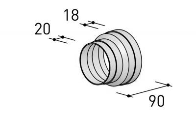 6000310 BERBEL Reduzierstück R 125 mm auf R 100 mm