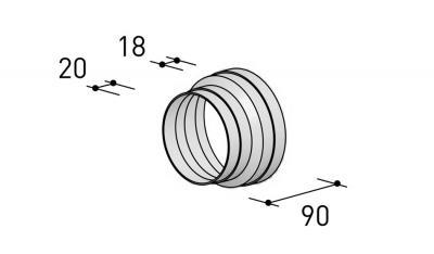 6000323 BERBEL Reduzierstück R 150 mm auf R 125 mm