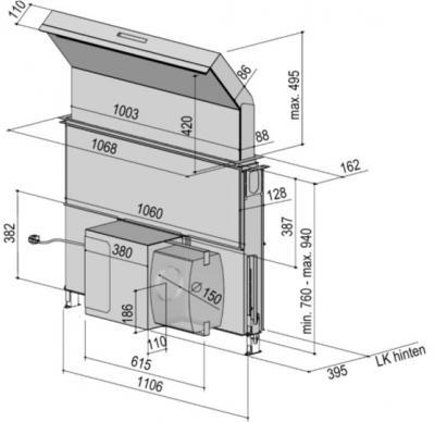 berbel bth 100 ml moveline tischlifthaube l fterkasten. Black Bedroom Furniture Sets. Home Design Ideas