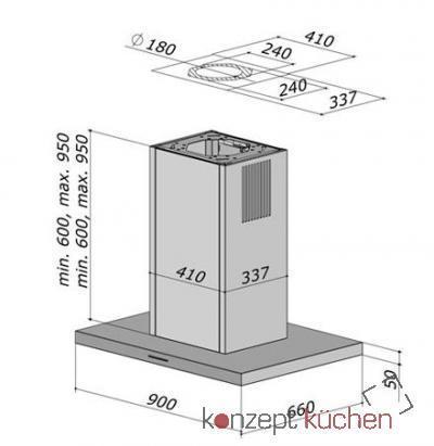 berbel bih 90 st inselhaube smartline wei eek c online. Black Bedroom Furniture Sets. Home Design Ideas