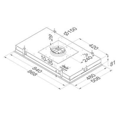 novy pureline 6838 deckenhaube edelstahl ohne beleuchtung externer motor 90cm online shop. Black Bedroom Furniture Sets. Home Design Ideas