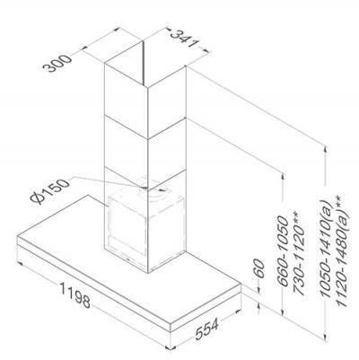 novy flatline 7610 wandhaube edelstahl 120 cm eek a online shop dunstabzug a wand hauben. Black Bedroom Furniture Sets. Home Design Ideas
