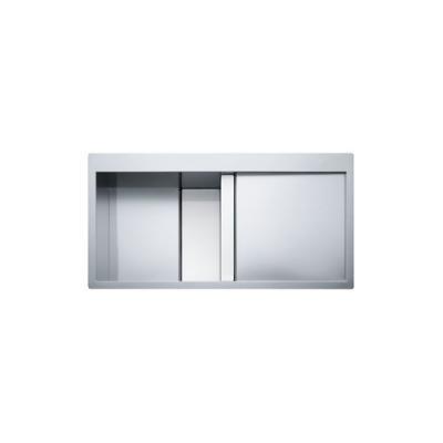 franke crystal clv 214 edelstahl becken links glas wei online shop sp len edelstahl 60. Black Bedroom Furniture Sets. Home Design Ideas