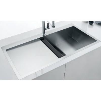 franke crystal clv 214 edelstahl becken rechts glas schwarz online shop sp len. Black Bedroom Furniture Sets. Home Design Ideas