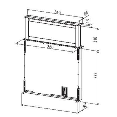 best strip glas schwarz downdraft 90 cm em 07758100 online shop dunstabzug tisch hauben. Black Bedroom Furniture Sets. Home Design Ideas