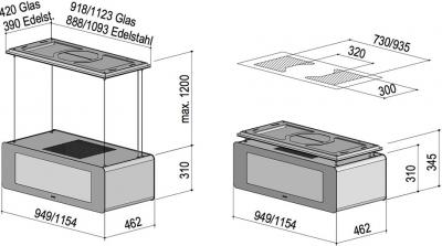 berbel bdl 115 sk deckenlifthaube skyline 2 schwarz online. Black Bedroom Furniture Sets. Home Design Ideas
