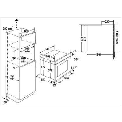 k ppersbusch eebd 6750 0 j einbau backofen mit dampf. Black Bedroom Furniture Sets. Home Design Ideas