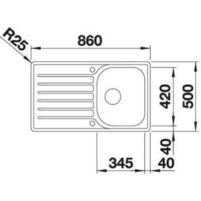blanco lantos 45 s if salto edelstahl b rstfinish mit ablauffernbedienung 519707 online shop. Black Bedroom Furniture Sets. Home Design Ideas