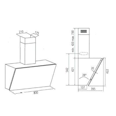 airforce zensa kopffreihaube 80cm glas schwarz 881969 online shop. Black Bedroom Furniture Sets. Home Design Ideas