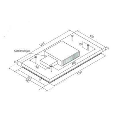 airforce lipari umluft deckenl fter 120cm glas schwarz 881989 online shop dunstabzug decken hauben. Black Bedroom Furniture Sets. Home Design Ideas