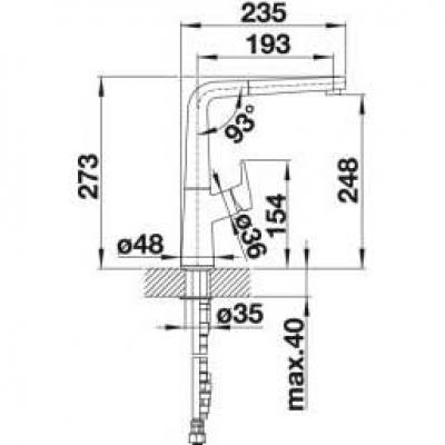 BLANCO AVONA-S Armatur chrom Hochdruck 521277