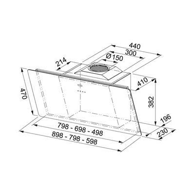 franke smart fsma 605 bk kopffrei haube 60 cm schwarz eek a online shop dunstabzug. Black Bedroom Furniture Sets. Home Design Ideas