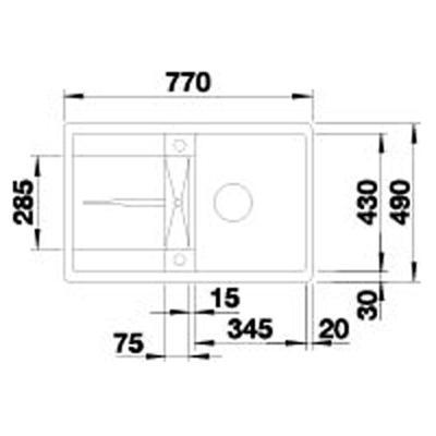 blanco metra 45 s f silgranit puradur einbausp le. Black Bedroom Furniture Sets. Home Design Ideas