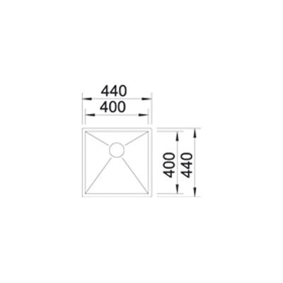 blanco zerox 400 u edelstahl seidenglanz online shop sp len unterbau. Black Bedroom Furniture Sets. Home Design Ideas