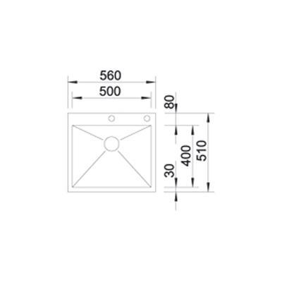 blanco zerox 500 if a if becken edelstahl 521630 online. Black Bedroom Furniture Sets. Home Design Ideas