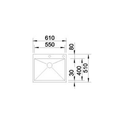 blanco zerox 550 if a edelstahl 521638 online shop sp len edelstahl 60. Black Bedroom Furniture Sets. Home Design Ideas