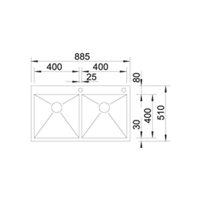 blanco zerox 400 400 if a edelstahl online shop sp len. Black Bedroom Furniture Sets. Home Design Ideas