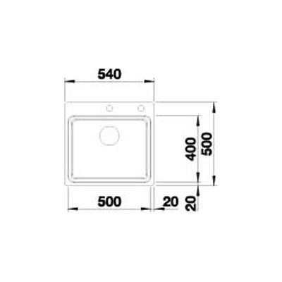 blanco etagon 500 if a edelstahl seidenglanz online shop sp len edelstahl 60. Black Bedroom Furniture Sets. Home Design Ideas