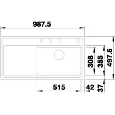 blanco zenar xl 6 s f dampfgarplus einbausp le fl chenb ndig silgranit puradur mit. Black Bedroom Furniture Sets. Home Design Ideas