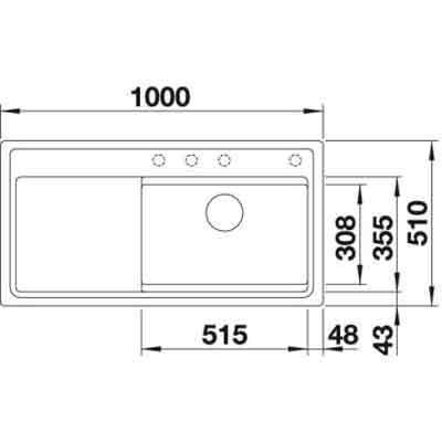 blanco zenar xl 6 s dampfgarplus einbausp le silgranit puradur mit glasschneidbrett online. Black Bedroom Furniture Sets. Home Design Ideas