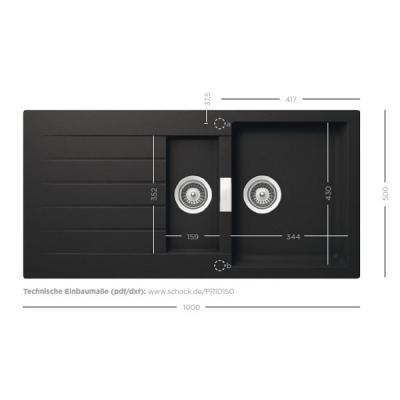 schock primus d 150 cristalite einbausp le online shop sp len cristalite 60. Black Bedroom Furniture Sets. Home Design Ideas
