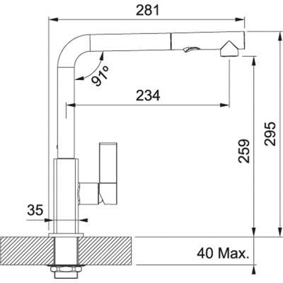 franke maris einhebelmischer hochdruck auszugsbrause chrom fragranit in 10 farben erh ltlich. Black Bedroom Furniture Sets. Home Design Ideas