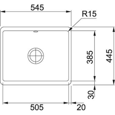 franke kubus unterbausp le kbk 110 50 fraceram online shop sp len unterbau. Black Bedroom Furniture Sets. Home Design Ideas