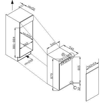 Amica EKS 16181 Einbau Kühlschrank Mit Gefrierfach SuperiorLine Weiß 88er  Nische, EEK A++ 2
