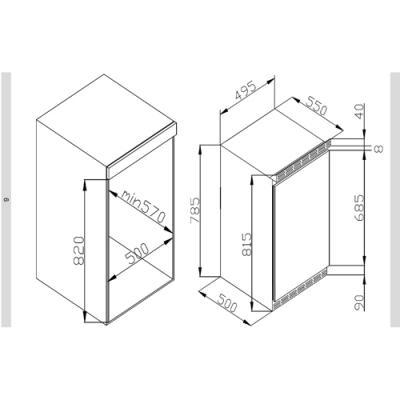 amica uks 16157 unterbauk hlschrank mit gefrierfach 81 5 cm nische dekorf hig eek a online. Black Bedroom Furniture Sets. Home Design Ideas