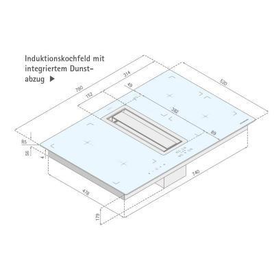 silverline flik 854 es flow in premium tischhaube induktions kochfeld 80 cm eek a online shop. Black Bedroom Furniture Sets. Home Design Ideas