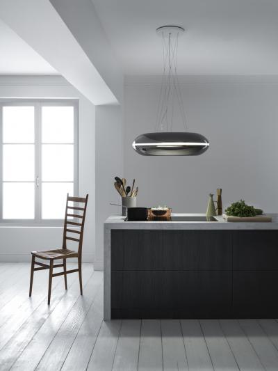 falmec loop inselhaube 74 cm gunmetal circle tech online. Black Bedroom Furniture Sets. Home Design Ideas